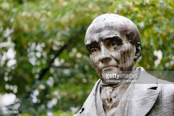 France, Paris. 5th arrondissement. Place de la Sorbonne. Statue of Auguste Comte.