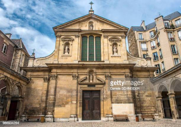france, paris 6th district, saint joseph des carmes church, rue de vaugirard - saint joseph stock pictures, royalty-free photos & images
