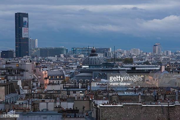 France, Paris, Aerial view towards Montparnasse