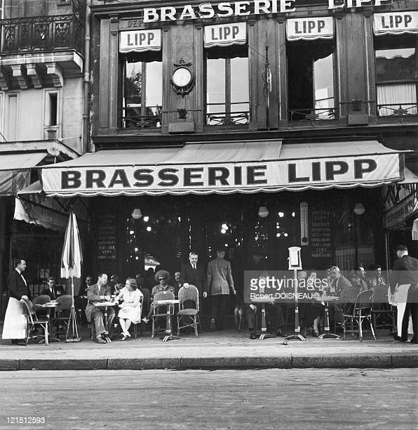 France Paris Brasserie Lipp SaintGermainDesPres 1947