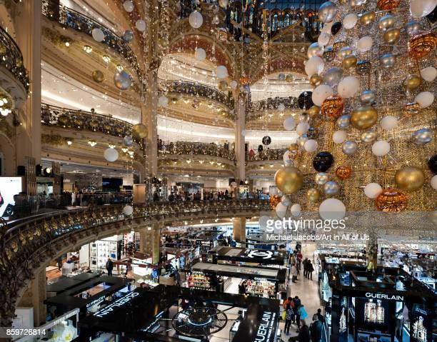 France Paris Christmas decoration inside the Galeries Lafayette 22 november 2015