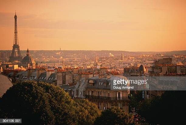 France, Paris, cityscape and Eiffel Tower