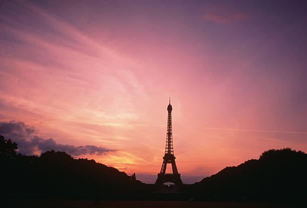 France, Paris, Eiffel Tower, sunset