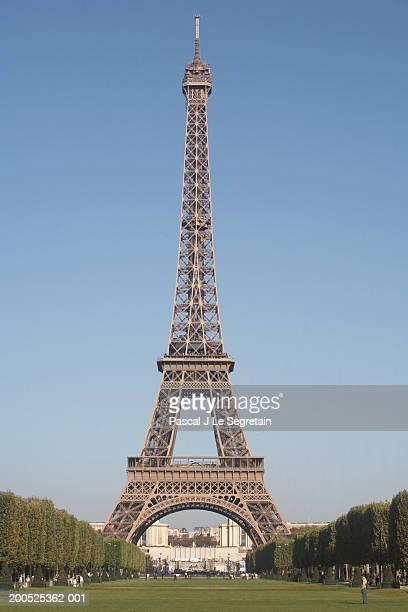France, Paris, Eiffel Tower, view from Champs de Mars