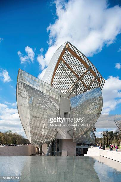 France Paris full height view of the Fondation Louis Vuitton