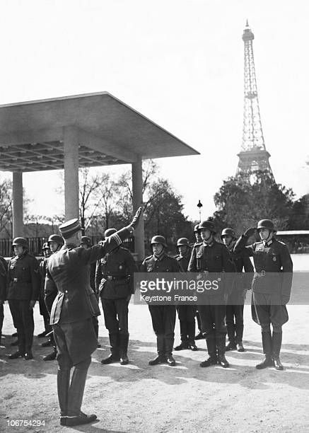 France Paris Germany SA Chief Viktor Lutze Salute Some Ex Members Mobilizated Circa 1941