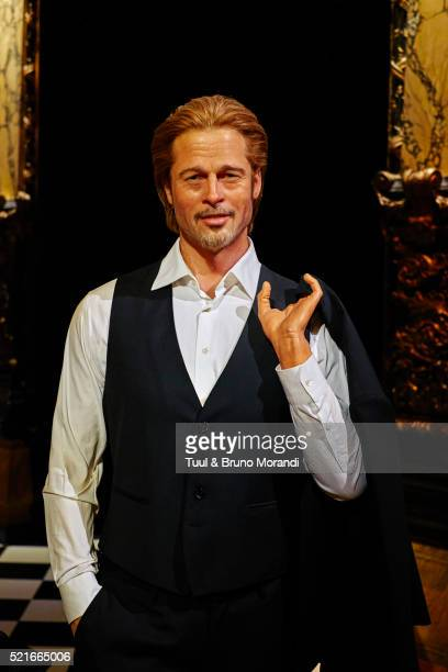 france, paris, grevin museum - brad pitt actor stock pictures, royalty-free photos & images
