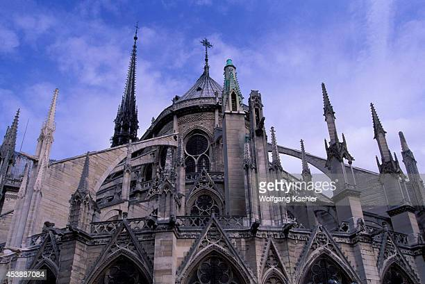France Paris Ile De La Cite Notredame Cathedral Flying Buttress