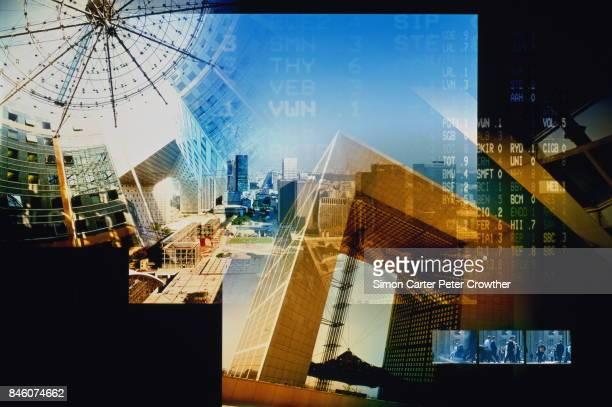Frankreich, Paris, La Défense, Finanzdaten (Composite) redaktionelle Verwendung ONL