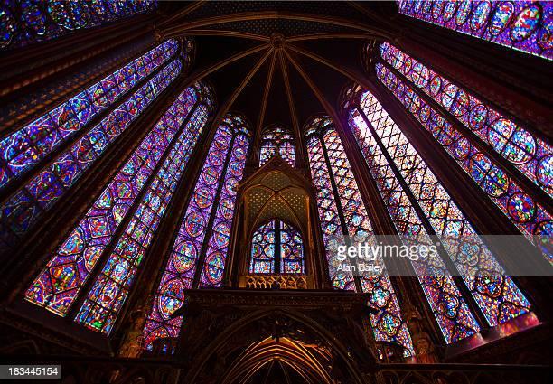 France, Paris, La Sainte-Chapelle interior