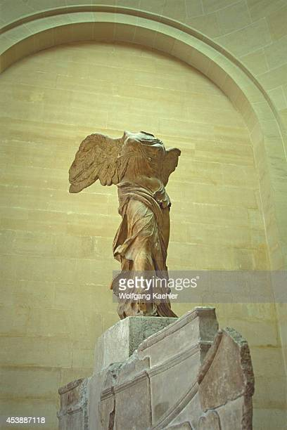 France Paris Louvre Museum Interior Exhibits Winged Victory Statue