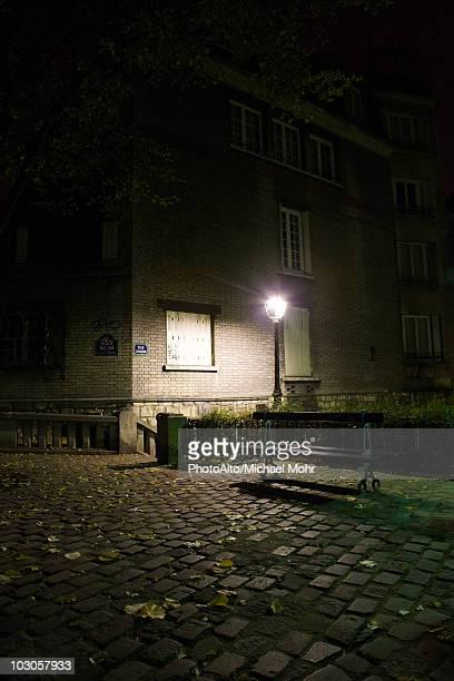 France, Paris, Montmartre, Place Dalida at night