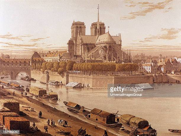 France Paris Notre Dame in 1750