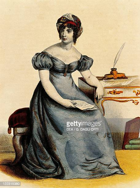 France Paris Portrait of Anne Louise Germaine Necker Baronne De StaelHolstein known as Madame De Stael FrenchSwiss author print