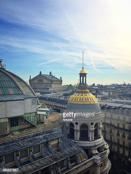 France, Paris, Rooftopping des Galeries Lafayette