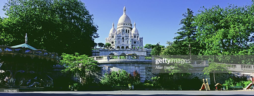 France, Paris, Sacre-couer cathedral : Foto de stock