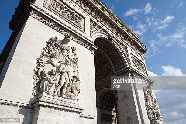France Paris The Arc De Triomphe Etoile One of the Most Important Famous Monuments in Paris in The Centre of the Place Charles De Gaulle