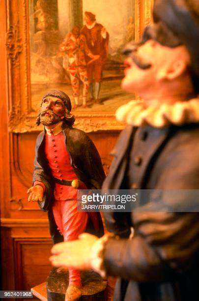 Paris the Carnavalet Museum in the Marias between the 3rd and 4th arrondissements The Salon Brulard de Genlis statuettes of the Italian comedia...