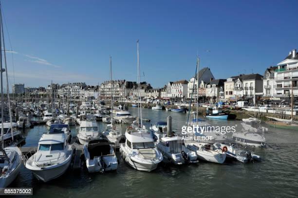 France, Pays de la Loire region, Loire-Atlantique department, port of Le Pouliguen city on Atlantic coast, harbor.
