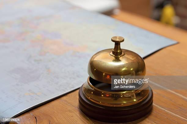 France, Picardy, Somme, Dernancourt, Service bell on desk