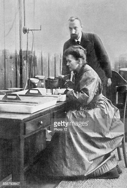 France Pierre and Marie Curie in their laboratory at the School of Physics and Chemistry