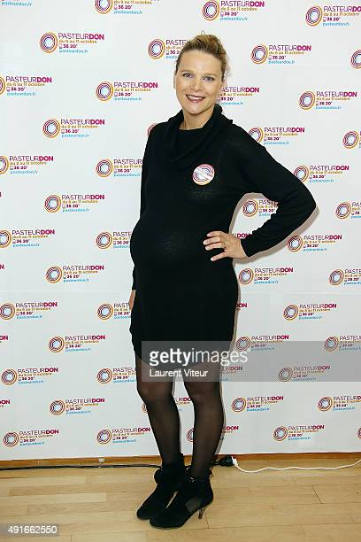 France Pierron attends the Launch of 'Pasteur Don 2015' at Institut Pasteur on October 7 2015 in Paris France