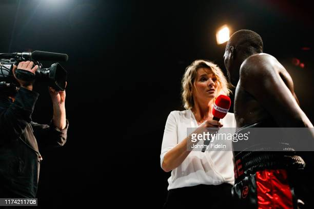 France PIERRON Journalist during the World Championship IBO at Casino Lucien Barriere on October 5 2019 in EnghienlesBains France