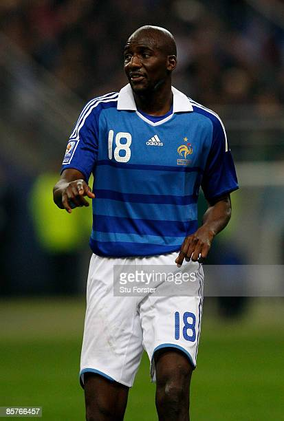 France player Alou Diarra in action during the group 7 FIFA2010 World Cup Qualifier between France and Lithuania at Saint Denis Stade de France on...