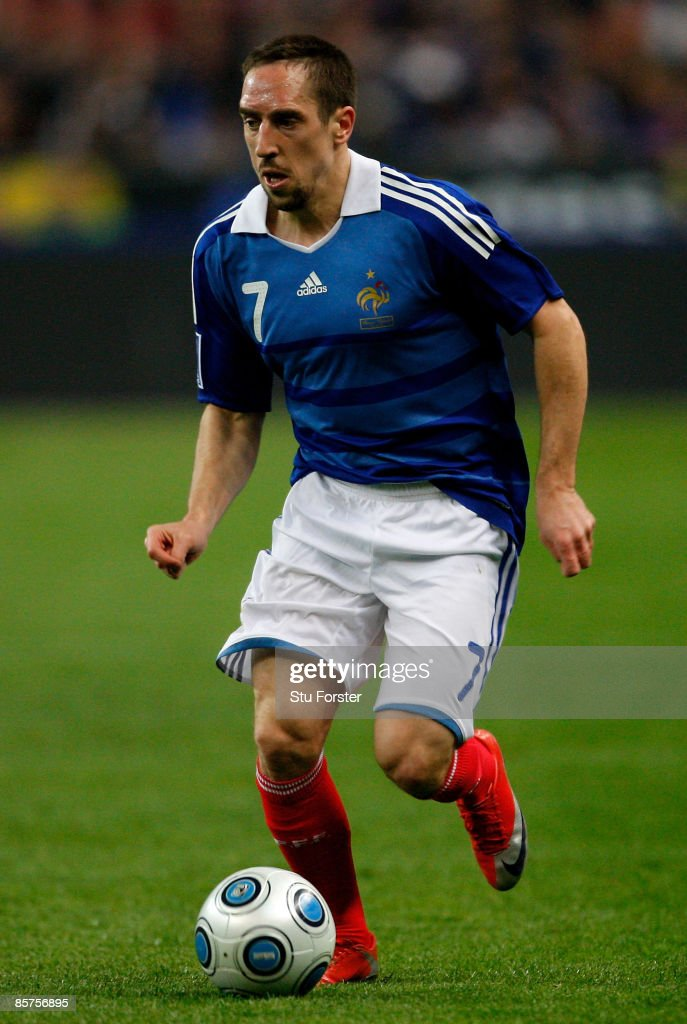 France player Franck Ribery in action during the group 7 FIFA2010 World Cup Qualifier between France and Lithuania at Saint Denis, Stade de France on April 1, 2009 in Paris, France.