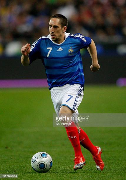 France player Franck Ribery in action during the group 7 FIFA2010 World Cup Qualifier between France and Lithuania at Saint Denis Stade de France on...