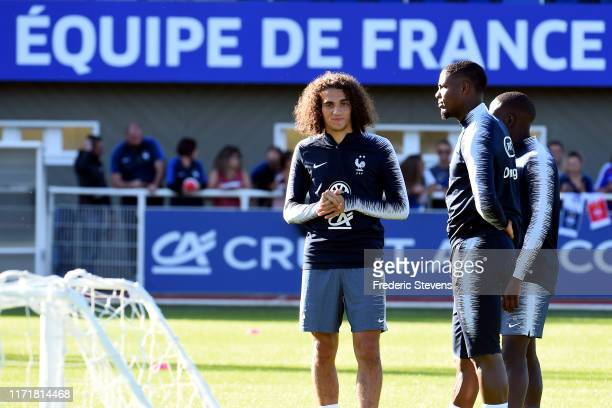 France player Matteo Guendouzi during a training session at the French National Football Centre as part of the preparation to UEFA Euro 2020 on...