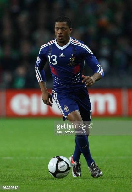 France player Patrice Evra in action during the FIFA 2010 World Cup Qualifier play off first leg between Republic of Ireland and France at Croke Park...