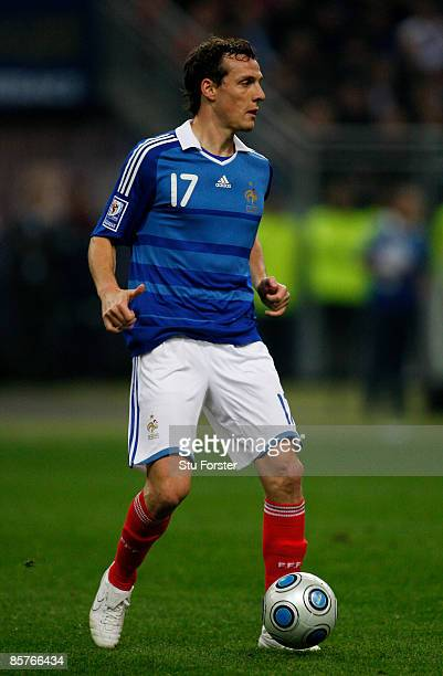 France player Sebastien Squillaci in action during the group 7 FIFA2010 World Cup Qualifier between France and Lithuania at Saint Denis Stade de...