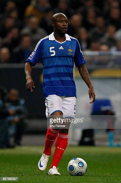 France player William Gallas in action during the group 7 FIFA2010 World Cup Qualifier between France and Lithuania at Saint Denis Stade de France on...