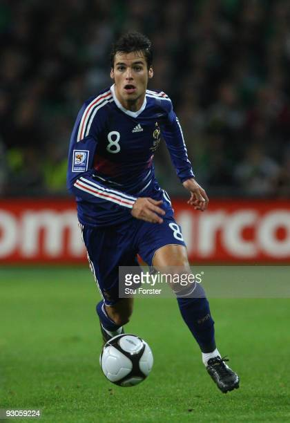 France player Yoann Gourcuff in action during the FIFA 2010 World Cup Qualifier play off first leg between Republic of Ireland and France at Croke...