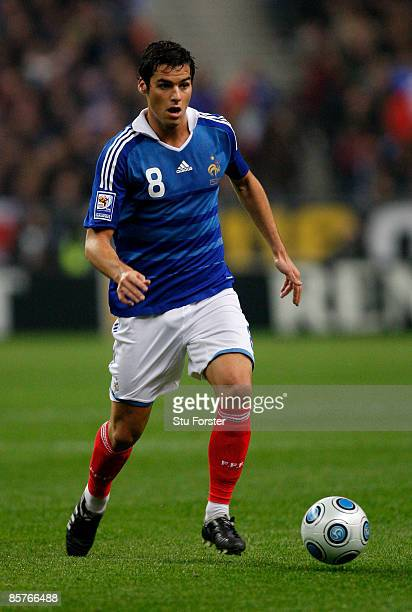 France player Yoann Gourcuff in action during the group 7 FIFA2010 World Cup Qualifier between France and Lithuania at Saint Denis Stade de France on...