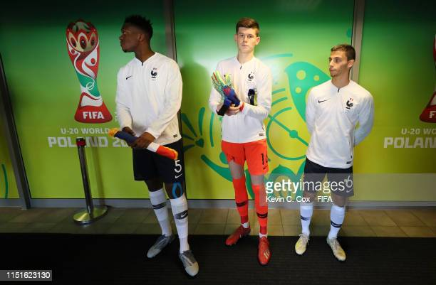 France players are seen in the tunnel prior to the 2019 FIFA U-20 World Cup group E match between France and Saudi Arabia at Gdynia Stadium on May...