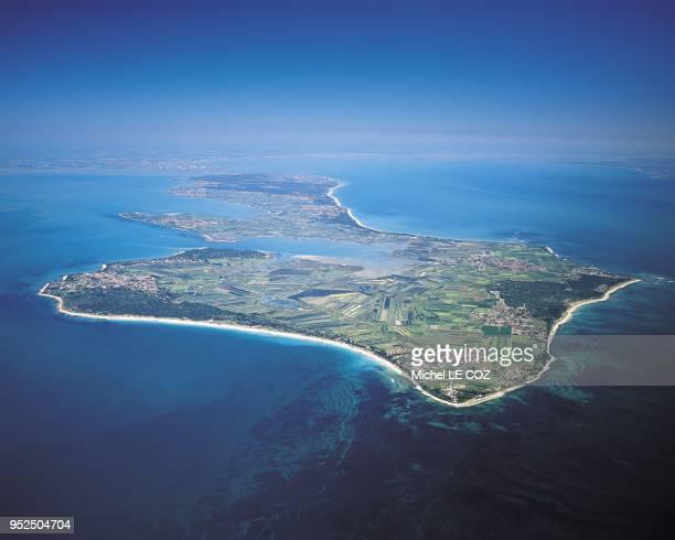 France PoitouCharentes Vue aerienne de l'Ile de Re