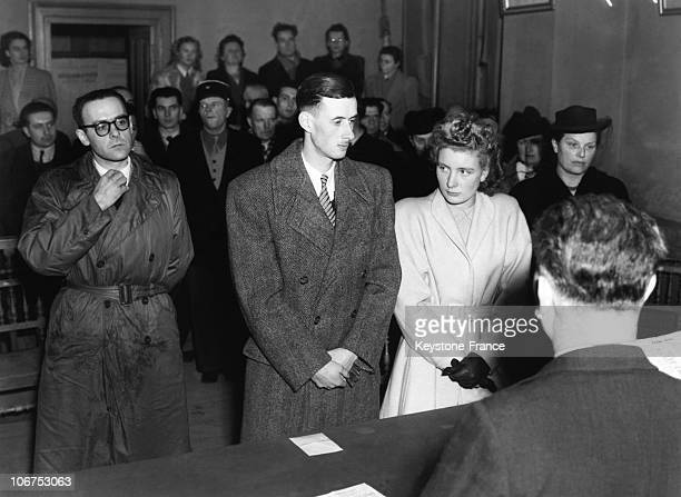 France Poncin Wedding Of Philippe De Gaulle With Henriette De Montalembert De Cers On December 30Th 1947