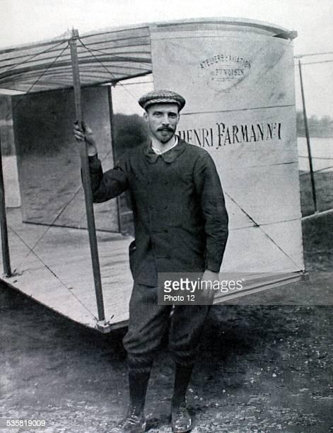 France Portrait of aviator Henri Farman
