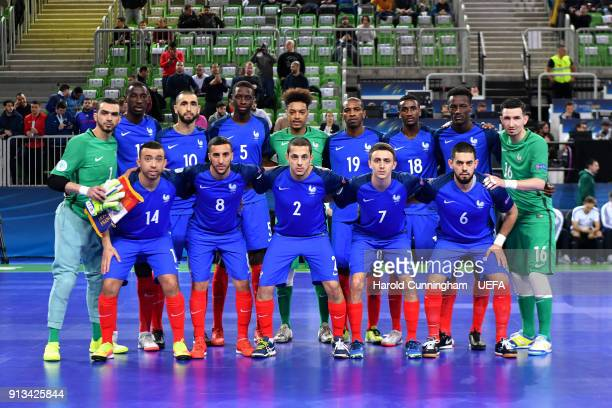 France pose for a team photo during the UEFA Futsal EURO 2018 group D match  between 2f2c6a1e0f533