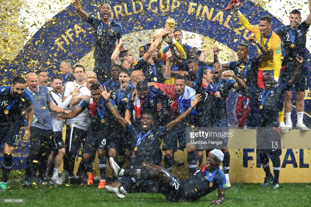 France v Croatia - 2018 FIFA World Cup Russia Final : News Photo