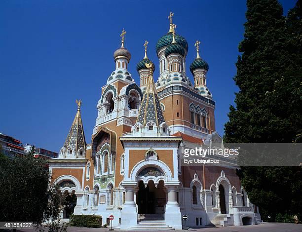 France Provence Cote d'Azur Nice St Nicholas Russian Orthodox church