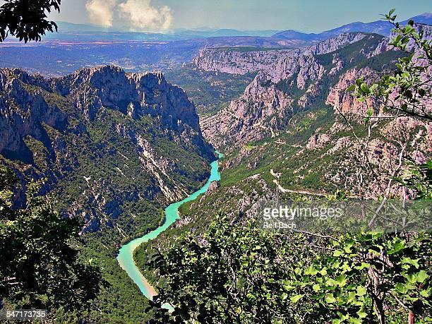 france, provence, verdon gorges (canyon) - gorges du verdon photos et images de collection