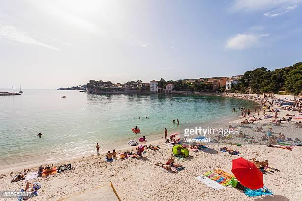 france, provence-alpes-cote d'azur, department var, bandol, beach - bandol photos et images de collection