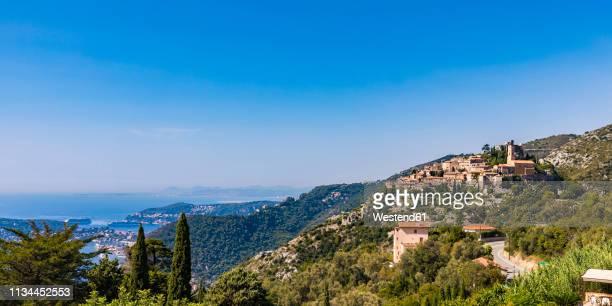 france, provence-alpes-cote d'azur, eze, mountain village - alpes maritimes stock pictures, royalty-free photos & images