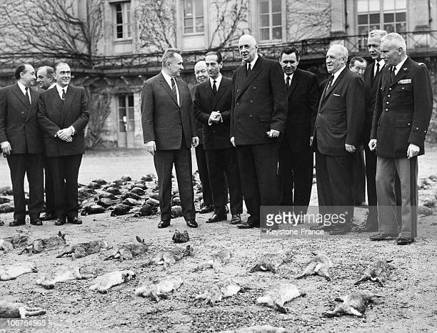 France, Rambouillet Castle, The Soviet Prime Minister Kossyguin At A Hunting Party Offered By General Charles De Gaulle In December 1966