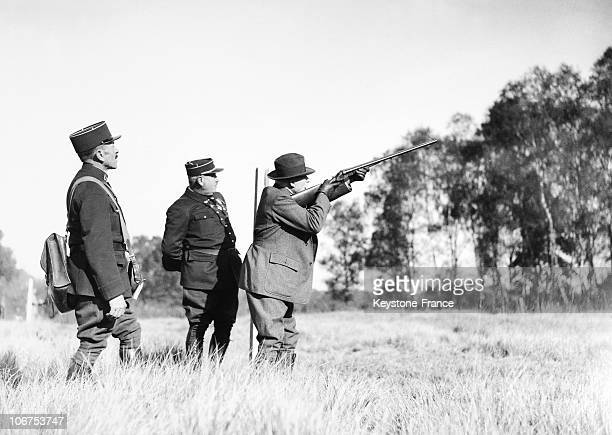 France, Rambouillet, Last Presidential Hunting Party For Albert Lebrun, On October 26Th, 1938