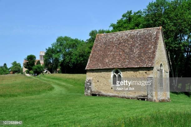 France, region of Normandy, Orne department, village of Saint Ceneri Le Gerei, Saint Ceneri chapel.