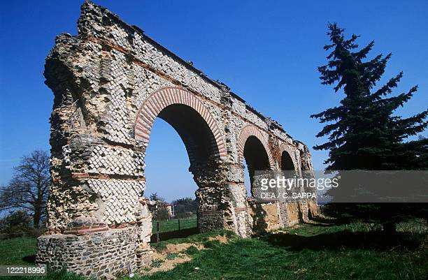 France RhoneAlpes Chaponost Roman aqueduct at Gier River 1st century AD